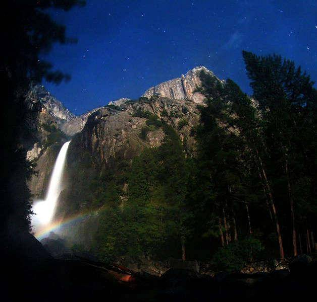 For many, this is not a true moonbow, but a spray moonbow  at the Lower Yosemite Falls