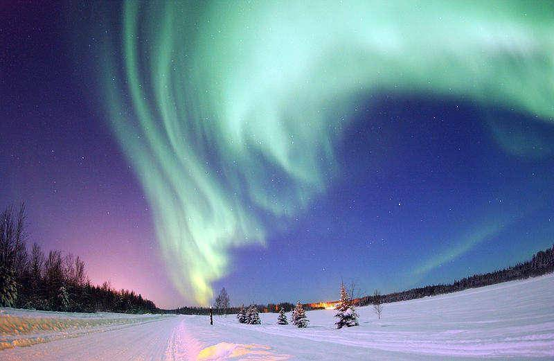 Northern Lights over Bear Lake, Eielson Air Force Base, Alaska