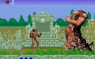 One of the strange bosses in Altered Beast