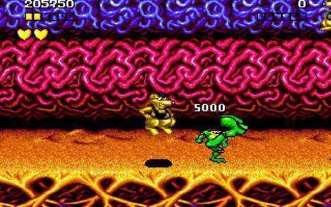 Limbs turn giant in Battletoads