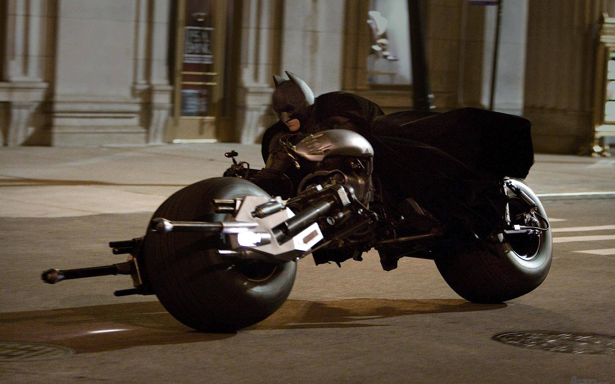 The front of the newest Batmobile can convert into the Batcycle