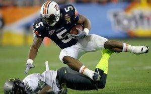 Michael Dyer stole the show as the Auburn Tigers toppled the Oregon Ducks to win the BCS.