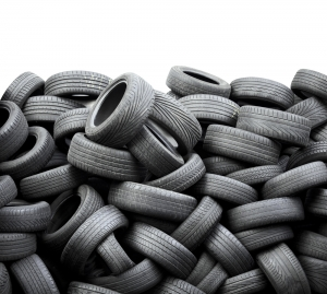 Can rubber tires be turned into fertilizer?