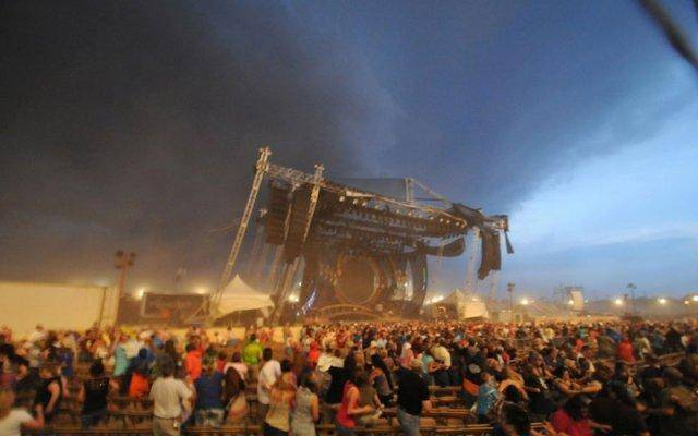 The stage collapsing in Indiana killed several people.