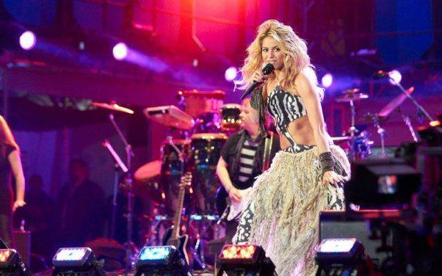 Shakira sang at the FIFA World Cup in Soweto last year