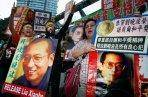 Hong Kong demonstration for Liu Xiaobo