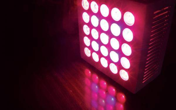 LED lights – like having a Lite Brite in your grow room.