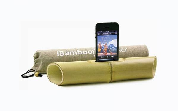 Bamboo speakers are just one of the eco-friendly accessories available for your smart devices.