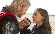 Thor comes from Asgard to Earth and lets Natalie Portman touch his hammer - the joys of being the god of thunder.