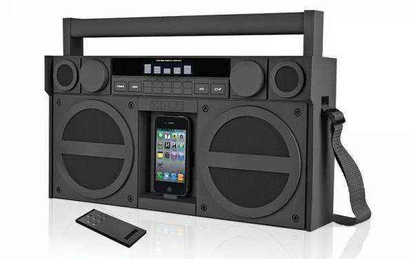 Break out your boombox like it was 1985 and rock MP3s like they were cassettes. Too dope!