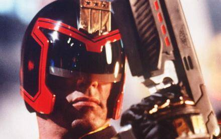 Stallone as Dredd. Anthrax must have been bummed.